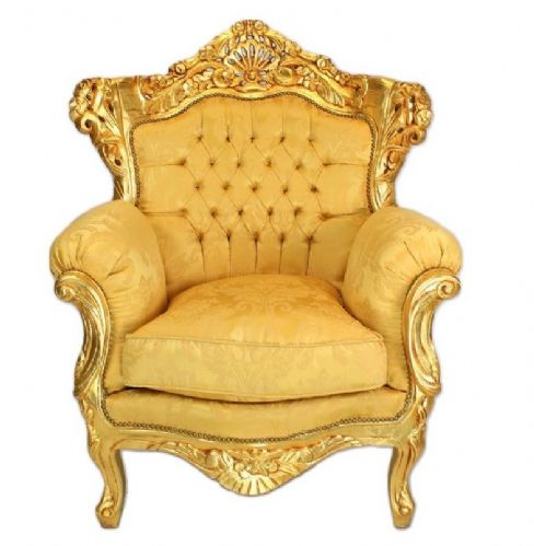 ARMCHAIR - PALACE BAROQUE STYLE ARMCHAIR - GOLD #MB200G